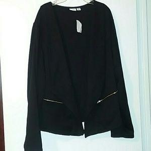 NWOT 22/24W Black blazer type jacket